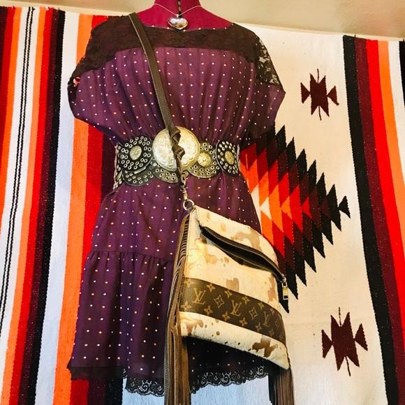 Dresses & Skirts - Adorable plum polka dot dress